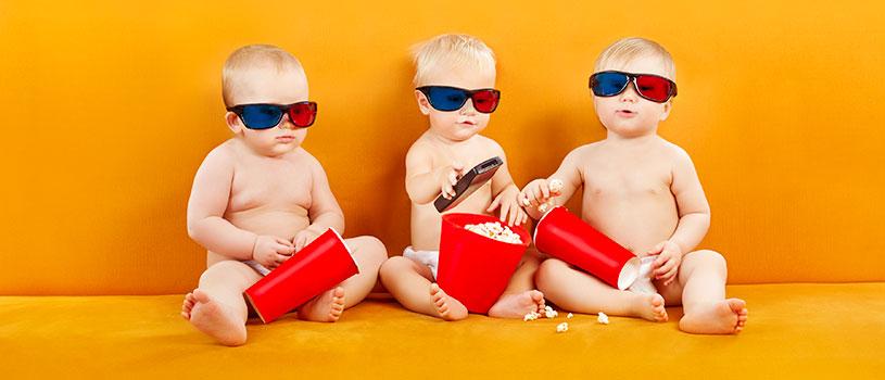 תינוקות, קולנוע, פופקורן, חיים בסרט