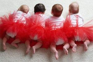 תינוקות, בנות, חצאית טוטו, בלרינה